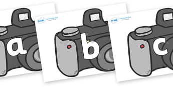 Phoneme Set on Cameras - Phoneme set, phonemes, phoneme, Letters and Sounds, DfES, display, Phase 1, Phase 2, Phase 3, Phase 5, Foundation, Literacy