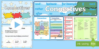 Connectives Resource Pack - New, Language, Curriculum, Ireland, Oral, Primary, Teaching