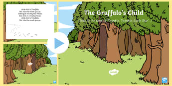 The Gruffalo's Child Song PowerPoint - The Gruffalo's Child, Julia Donaldson, winter, snow, singing, songtime, PowerPoint