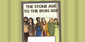 The Stone Age to the Iron Age Book Cover - folder cover, history