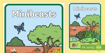 Minibeasts Book Cover - Minibeasts Book Cover - nature, science, plants, minibeasts, topic, front cover,sceince,scince,minbe