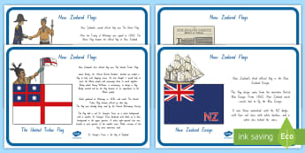 New Zealand Flags Display Posters - New Zealand Social Sciences, NZ, Social Studies, flag, display poster