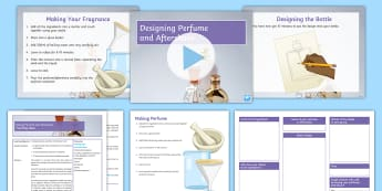 Making Perfume and Aftershave Lesson Pack - perfume, after shave, filtration, distillation, sell, design