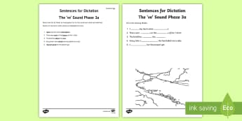 Northern Ireland Linguistic Phonics Stage 5 and 6, Phase 3a, 've' Dictation Sentences Activity - Linguistic Phonics, Stage 5, Stage 6, Phase 3a, Northern Ireland, sentences, dictation, words, 've