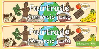 Fairtrade Display Banner English/Portuguese - Fairtrade Display Banner - fairtrade, fair trade, banner, trade, abnner