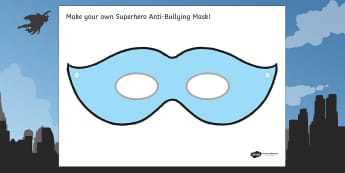 Anti Bullying Week Superhero Mask Activity