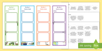 Year 1 Australian Curriculum Science Goals Bookmarks - science target, science assessment, grade one, WALT, science inquiry skills