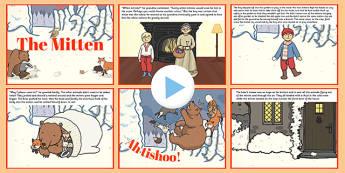 The Mitten PowerPoint - the mitten, powerpoint, story, tale