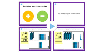 Year 3 Addition and Subtraction Lesson 3a Adding 3 and 2 Digit Numbers Without Carrying PowerPoint