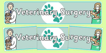 Veterinary Surgery Display Banner - veterinary surgery, vets, display banner, banner, banner for display, display header, header, header for display