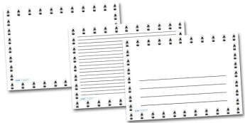 Lamp Lantern Landscape Page Borders- Landscape Page Borders - Page border, border, writing template, writing aid, writing frame, a4 border, template, templates, landscape