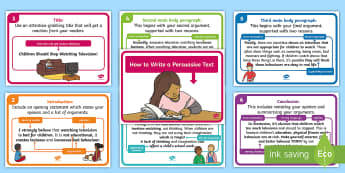 How to Write a Persuasive Text Display Posters - NAPLAN, English Curriculum, Persuasive writing, opinion, point of view,Australia