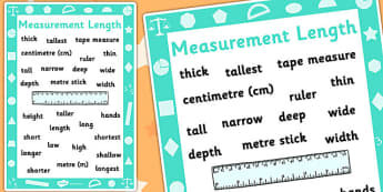 Key Stage 1 Measurement Length Poster - Measure, Length, Poster