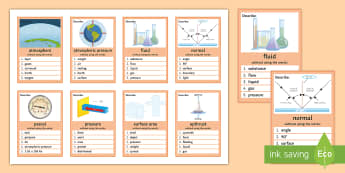 Pressure in Liquids Can You Guess? Cards - Pressure in Liquids, Atmosphere, Atmospheric Pressure, Fluid, Normal, Upthrust, Surface Area, pascal