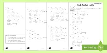 Fruit-Fuelled Maths Activity Sheet - amazing fact august, algebra, formula, fruit maths, maths puzzles, fruit maths puzzles,worksheet