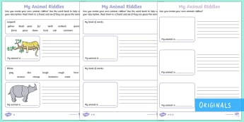 Ronald the Rhino's Riddles Activity Sheets - Children's Books, Ronald the Rhino, children's book, rhyme, story, text, rhyming couplets, syllabl