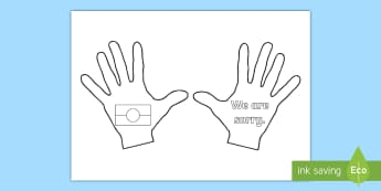 We are Sorry Handprint Activity Sheet - National Sorry Day, 26 May, sorry, reconciliation, apology, Worksheet, ACHASSK135, ACHASSK064,Austra