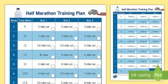 Novice Half Marathon Training Plan Display Calendar - Well Being - Running Resources, half marathon, 13.1, running, fitness, long run