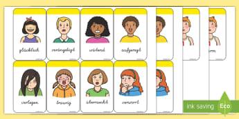 Gefühle und Emotionen Memory Karten - Gefühle und Emotionen, Gefühle, Emotionen, Memory Karten, Memory Spiel, Wortkarten, Bilderkarten,