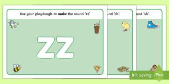Phase 3 Phoneme Picture Playdough Mats -  grapheme, autumn, phoneme, fine motor, finger gym, letters and sounds
