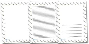 Pirate Sword Portrait Page Borders- Portrait Page Borders - Page border, border, writing template, writing aid, writing frame, a4 border, template, templates, landscape