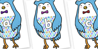 Phase 2 Phonemes on Owl - Phonemes, phoneme, Phase 2, Phase two, Foundation, Literacy, Letters and Sounds, DfES, display