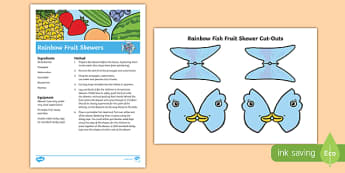 Rainbow Fish Fruit Skewers Recipe