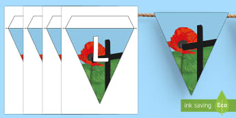Lest we Forget Display Bunting - New Zealand, Anzac Day, 25 April, ANZAC, Poppies, World War 1, World War 2, Gallipoli, Lest we Forge