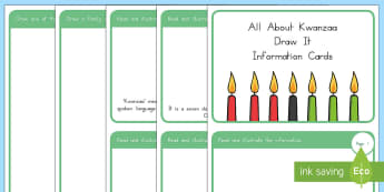 All About Kwanzaa Draw It Information Cards - Kwanzaa, celebrating kwanzaa