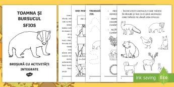 Toamna și bursucul sfios Broșură cu activități integrate - clasa pregătitoare, broșură, activități integrate, integrat, bursuc, poveste,Romanian