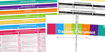 EYFS Early Years Outcomes Tracking Document - Early, Years, Outcomes, Tracking, EYFS