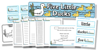 Five Little Ducks - five little ducks, resource pack