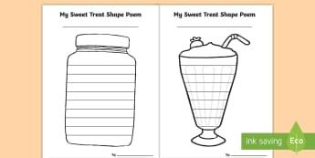 Sweet Treat Shape Poetry - sweet treats, activity sheets, templates, shape poems, creative writing,Irish