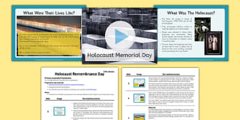 Holocaust Memorial Day KS2 Assembly Script and Presentation Pack - holocaust, memorial day, ks2, assembly, script, powerpoint, presentation