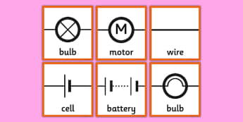 Circuit Symbols Memory Cards - circuit, symbols, scientific, pictures, diagram, electricity, ks2, key stage 2