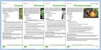 Gardening Club Summer 1 Activity Pack