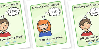 SEAL How To Help Your Anger - SEAL, anger, how to help your anger, display, poster, sign, banner, SEN, emotion, behaviour management, emotions, feelings, angry, stop,  take time to think, take a deep breath