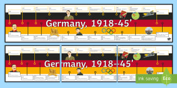 Germany 1918-45 Classroom Display Pack - germany, history, display, time saving, ready made, wall, timeline, revision,