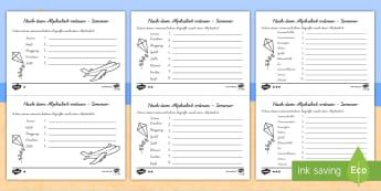 Nach dem Alphabet ordnen  Sommer Arbeitsblätter: Unterschiedliche Schwierigkeitsgrade - Nach dem Alphabet ordnen, Sommer, Arbeitsblätter, unterschiedliche Schwierigkeitsgrade, Arbeitsblat