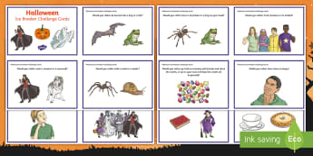 KS2 Halloween Ice Breaker Cards - would you rather, discussion starters, PSHCE, Halloween activities, games, opinion, warm-Up