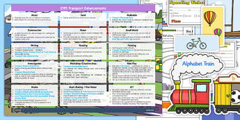 EYFS Transport Themed Enhancement Ideas and Resource Pack - eyfs