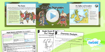 History: Anglo Saxons and Scots: The Invaders LKS2 Lesson Pack 1