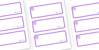 Purple Themed Editable Drawer-Peg-Name Labels (Blank) - Themed Classroom Label Templates, Resource Labels, Name Labels, Editable Labels, Drawer Labels, Coat Peg Labels, Peg Label, KS1 Labels, Foundation Labels, Foundation Stage Labels, Teaching Label