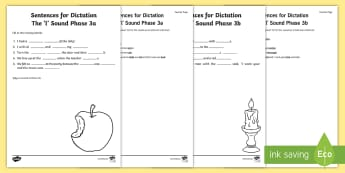 Northern Ireland Linguistic Phonics Stage 5 and 6, Phase 3a and 3b, 'l' Dictation Sentences Activity - Linguistic Phonics, Stage 5, Stage 6, Phase 3a,  Phase 3b, Northern Ireland, sentences, dictation, w
