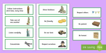 KS2 WWII Themed Class Charter Cards - rules, behaviour, back to school, rights, responsibilities, managing behaviour, ownership, council