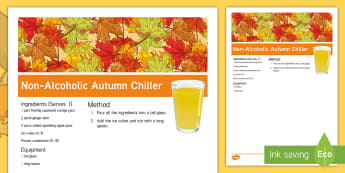 Elderly Care Autumn Chiller Recipe - Autumn, Seasons, Display, September, October, November, Leaves, Harvest, Activity Co-ordinators, Sup