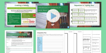 Introduction to Composing 2 Lesson - Music, GCSE, Secondary, KS4, Composing, self assessment, peer assessment, cards.