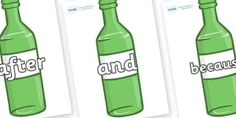 Connectives on Green Bottles - Connectives, VCOP, connective resources, connectives display words, connective displays