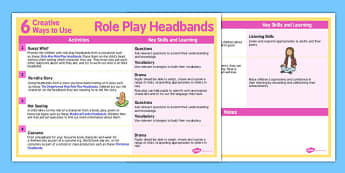 6 Creative Ways to Use Role Play Headbands - role-play, creative