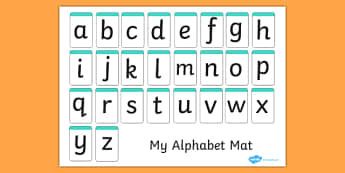 A-Z Alphabet Mat (letters only) - Alphabet Mat, DfES Letters and Sounds, Letters and sounds, Letters A-Z, Learning Letters